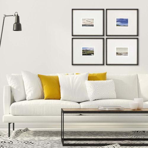 Land Study V Multicolor Framed Art, Set of Four
