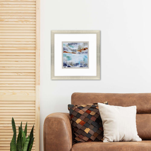 Rocky Bay I Orange Framed Art