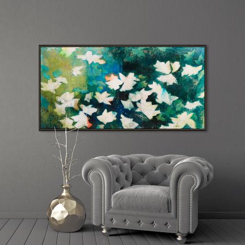 June Green Framed Art