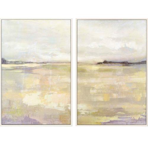 Dyfi Neutral Framed Art, Set of Two