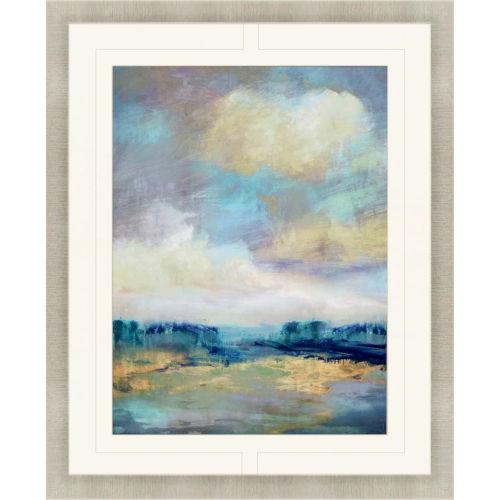 Opaline Blue Framed Art
