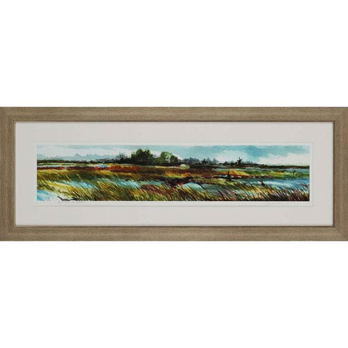 Paragon High Tide at Ossabaw by Leonard: 19 x 51-Inch Framed Wall Art