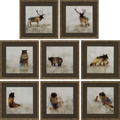 Paragon Solo Water by Roko: 16 x 16-Inch Framed Wall Art, Set of Eight