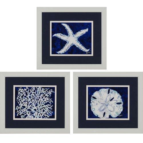 Paragon Sea by Gerri: 21 x 24-Inch Framed Wall Art, Set of Three