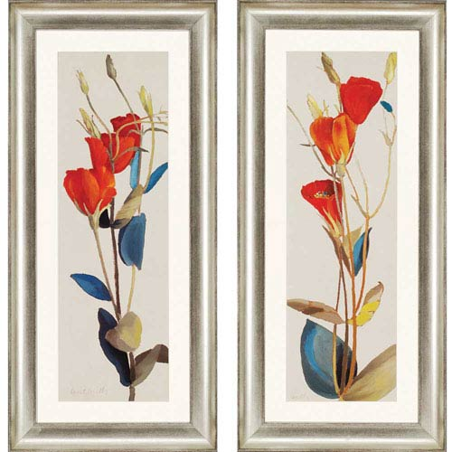 Paragon Grandiflorum by Loreth: 45 x 21-Inch Framed Wall Art, Set of Two