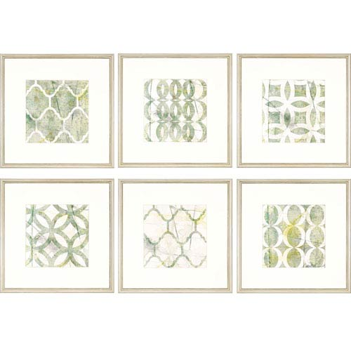 Paragon Metric Link by Goldberger: 22 x 22-Inch Framed Wall Art, Set of Six