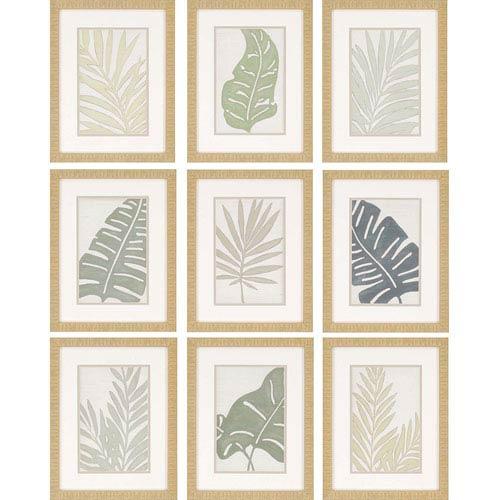 Paragon Verdant by Vess: 18 x 14-Inch Framed Wall Art, Set of Nine