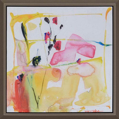 Art Drops 4, Framed Abstract Artwork By: McCabe