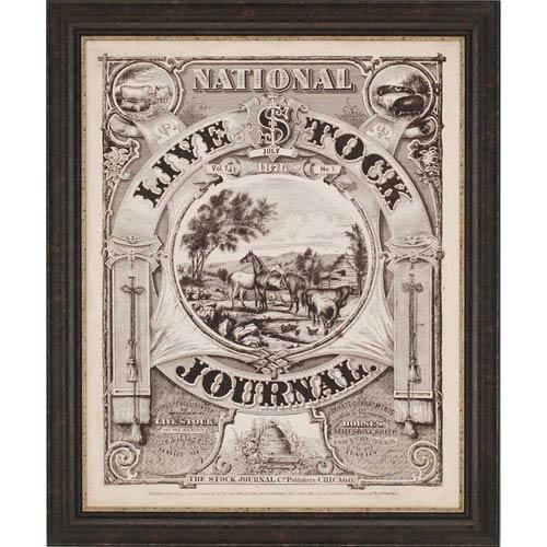 Paragon Live Stock Journal: 46 x 38-Inch Framed Wall Art