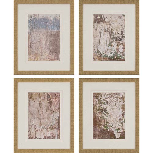 Paragon Vestige III by Inspire Studio: 21 H x 17 W-Inch Framed Art , Set of Four