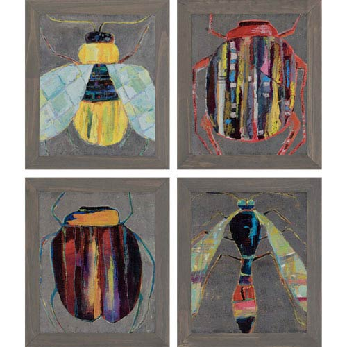 Paragon Bugging by Swider: 17 H x 14 W-Inch Framed Art , Set of Four