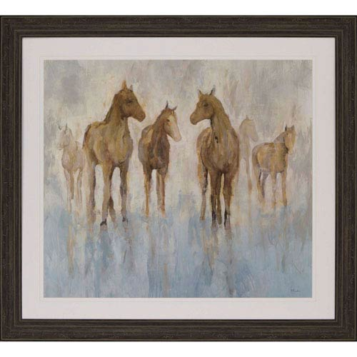 Paragon Horses by Hibberd: 43 H x 47 W-Inch Framed Art