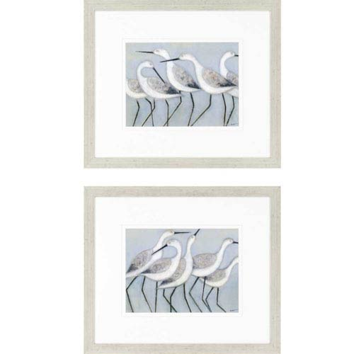 Shore Birds by Norman Wyatt: 24 x 28 Framed Print, Set of Two
