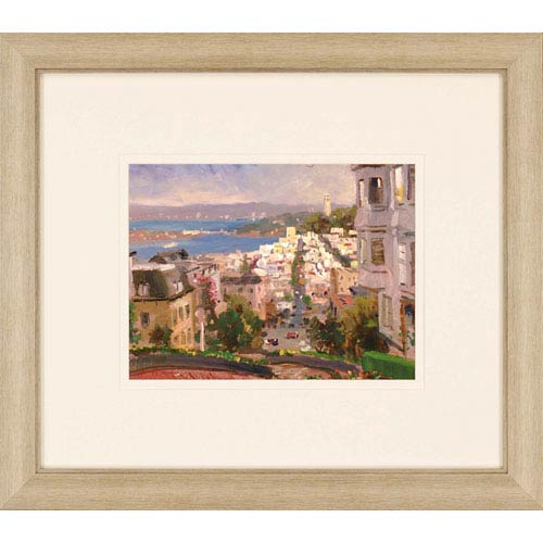 Paragon San Francisco, Lombard by Kinkade: 26 x 30-Inch Framed Wall Art