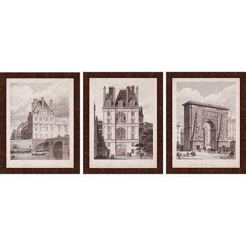Paragon French Landmarks I by Pugin: 26 x 20-Inch Framed Wall Art, Set of Three