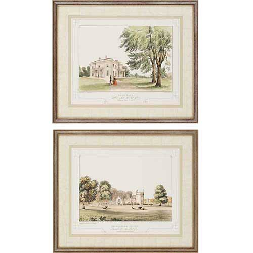 Paragon Lancashire Castle I by Greenwood: 22 x 26 Framed Giclee Printed, Set of 2