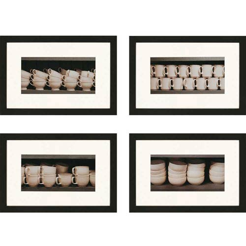Vintage Ware by Sikes: 21 x 31-Inch Framed Wall Art, Set of Four
