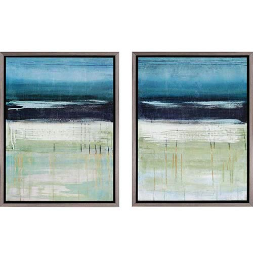 Paragon Sea and Sky by McAlpine: 25 x 19 Framed Acrylic Paint, Set of 2