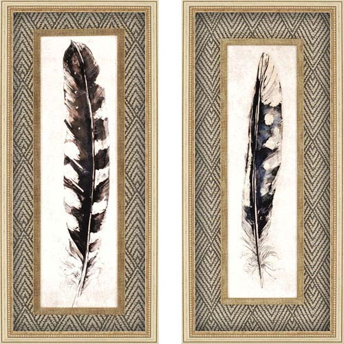 Paragon Plume/Quill by Symposium: 41 x 19-Inch Framed Wall Art, Set of Two
