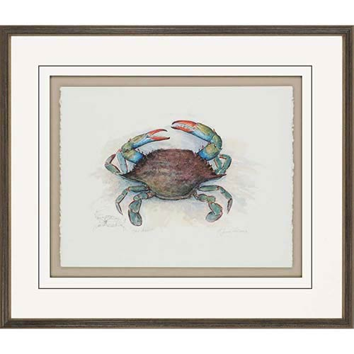Paragon She Crab by Leonard: 27 x 34 Framed Giclee Printed