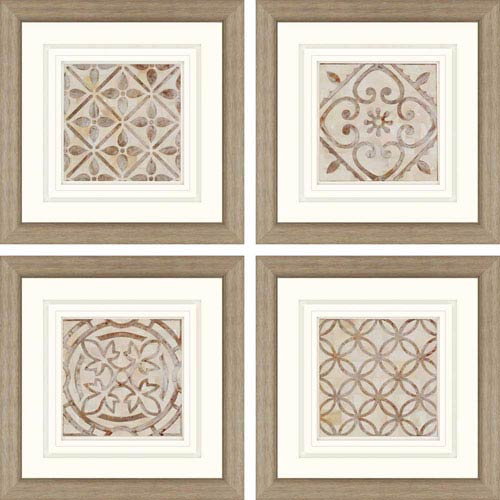 Paragon Moroccan Tiles By Smith: 24 X 24 Inch Framed Wall Art, Set ...