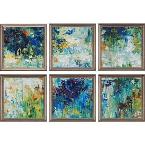 Falling Waters by Roth: 16 x 16-Inch Framed Wall Art, Set of Six