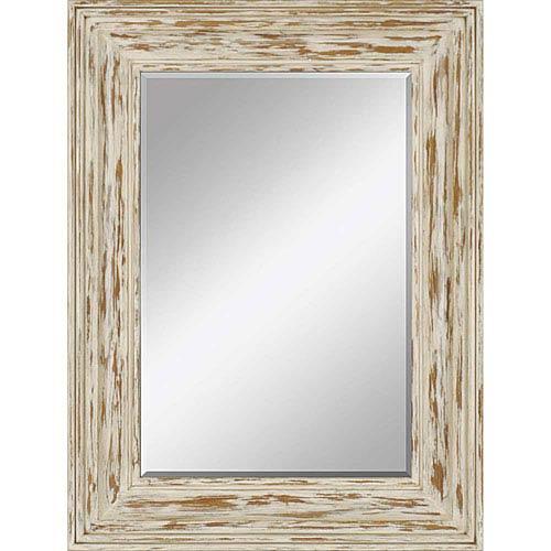 White Distressed Mirror | Bellacor