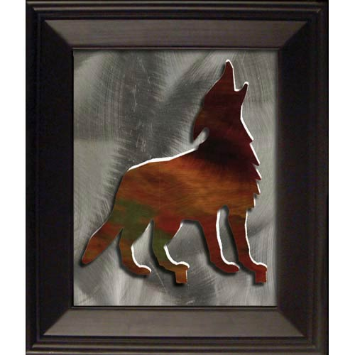Steel Images 12-Inch 3D Wolf Wall Art