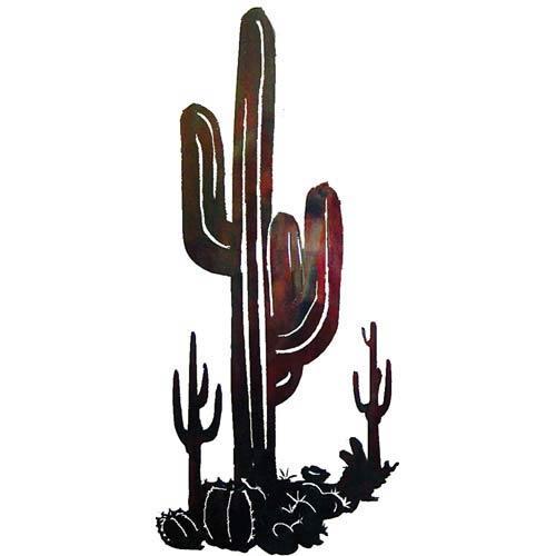 25-Inch x 12-Inch Cactus Scene Wall Art