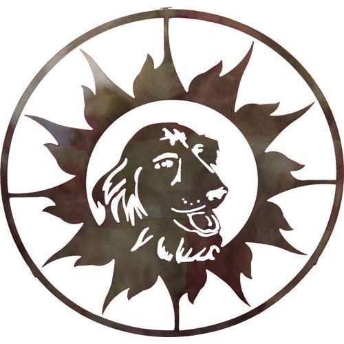 18-Inch Sun with Dog Wall Art