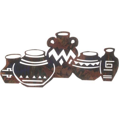 18-Inch Five Southwest Pots Wall Art