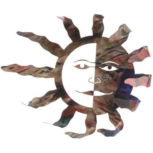 18-Inch Blowing Sun Wall Art