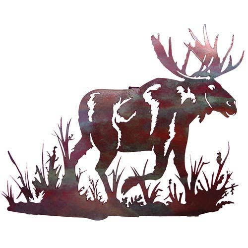 18-Inch Moose in Marsh Wall Art