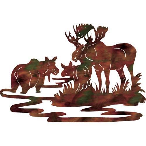 24-Inch Moose Family Wall Art