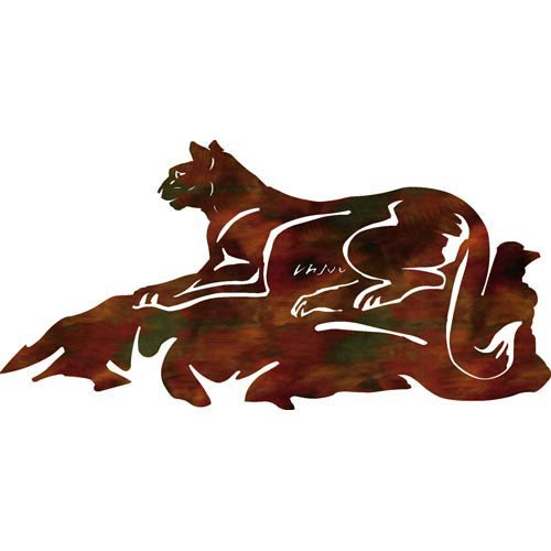 24-Inch Cougar Hunt Wall Art
