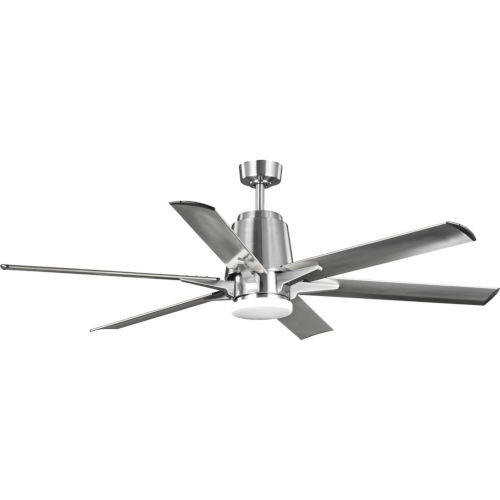 Arlo Brushed Nickel 60-Inch LED Ceiling Fan with White Opal Shade