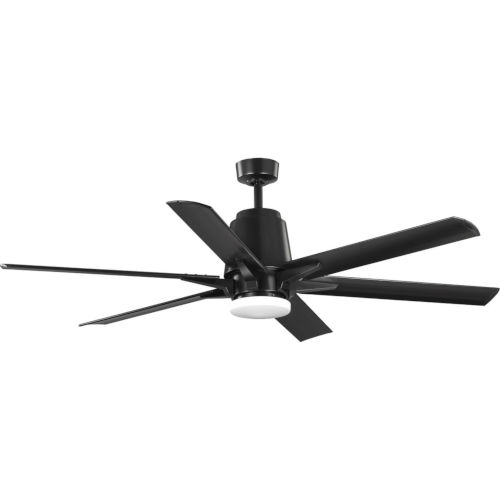 Arlo Black 60-Inch LED Ceiling Fan with White Opal Shade