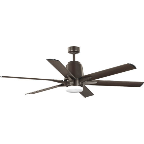 Arlo Architectural Bronze 60-Inch LED Ceiling Fan with White Opal Shade