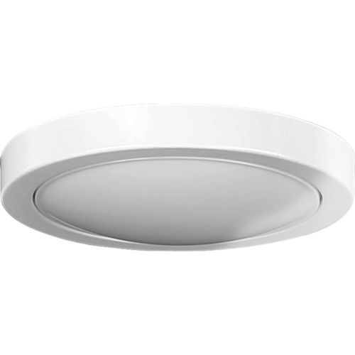 AirPro Satin White Seven-Inch LED Ceiling Fan Light Kit with Frosted Shade