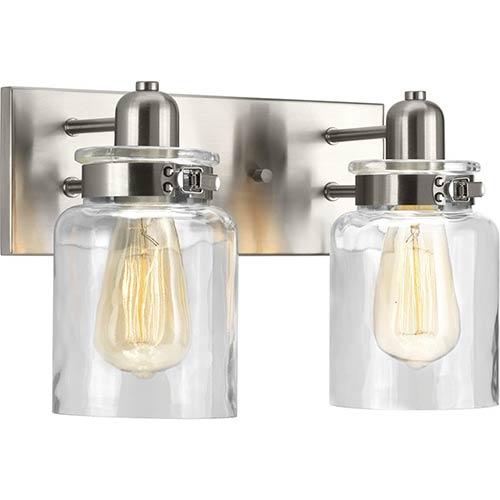 P300046-009: Calhoun Brushed Nickel Two-Light Bath Vanity