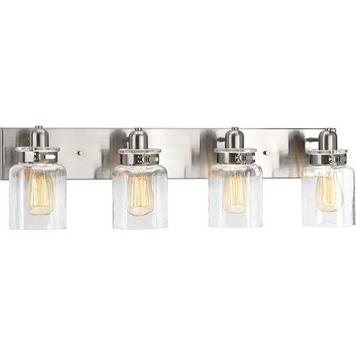 P300048-009: Calhoun Brushed Nickel Four-Light Bath Vanity