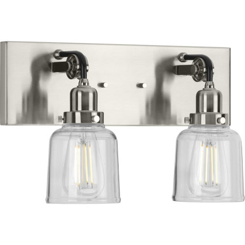 P300227-009 Rushton Brushed Nickel 16-Inch Two-Light Bath Vanity