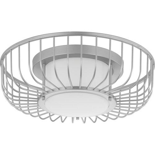 P350089-121-30: Finesse Metallic Silver LED Pendant