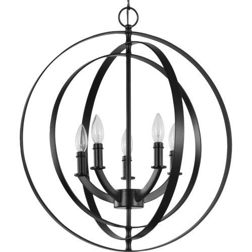 Equinox Black 22-Inch Five-Light Pendant