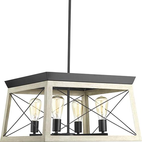 P400047-143: Briarwood Graphite Four-Light Chandelier