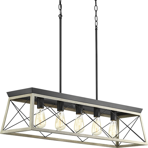 P400048-143: Briarwood Graphite Five-Light Island Pendant