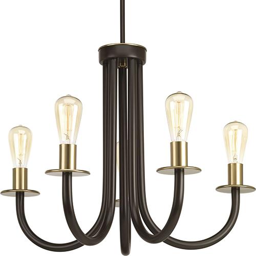 P400050-020: Swing Antique Bronze Five-Light Chandelier