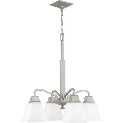 P400118-009: Clifton Heights Brushed Nickel Four-Light Chandelier