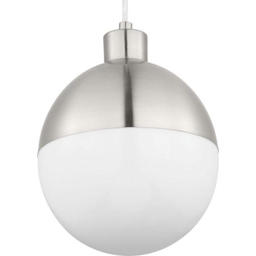 P500147-009-30: Globe LED Brushed Nickel Mini-Pendant