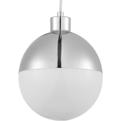 P500147-015-30: Globe LED Polished Chrome Mini-Pendant